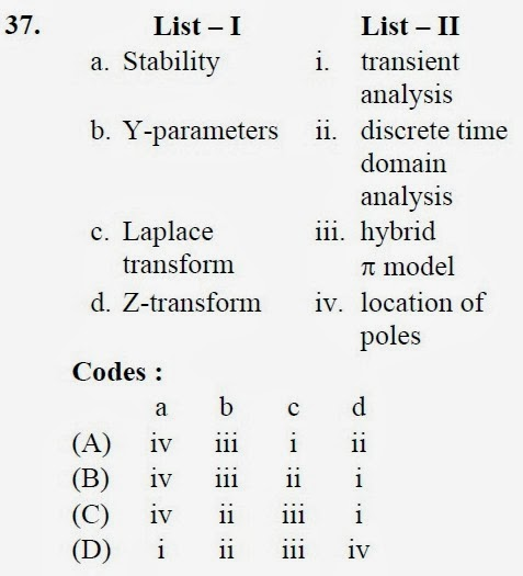 2012 December UGC NET in Electronic Science, Paper II, Questions 37