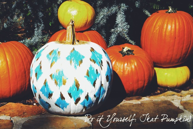 the peak of tr s chic diy ikat pumpkin