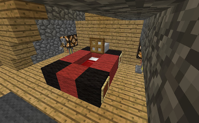 Minecraft bedroom ideas interior designs room for Bed decoration minecraft