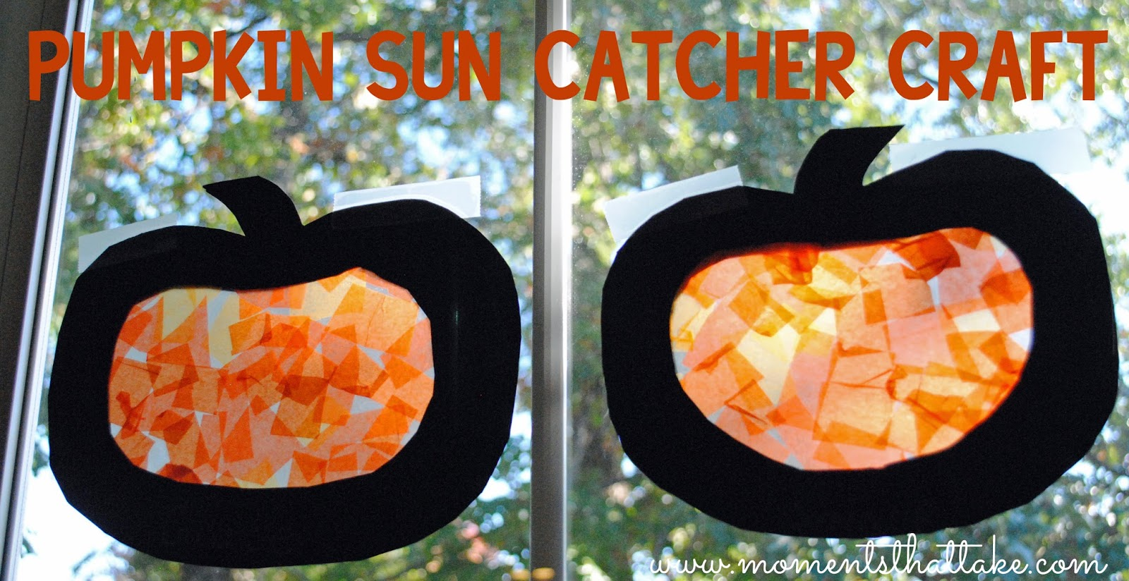 Pumpkin Suncatcher Craft for Toddlers