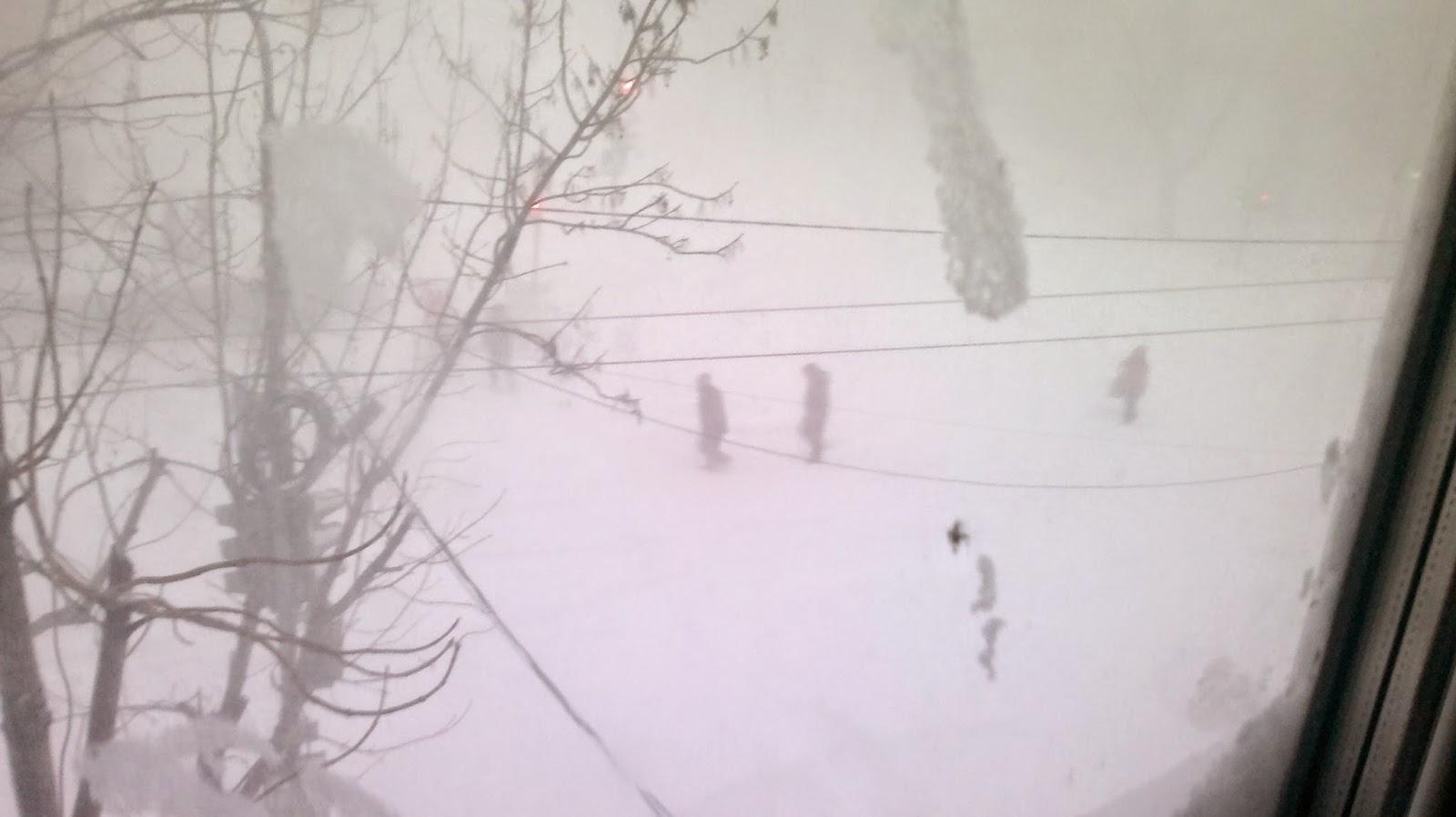 Метель в Комсомольске на Амуре