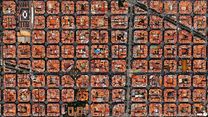 ciudades vistas desde satelites