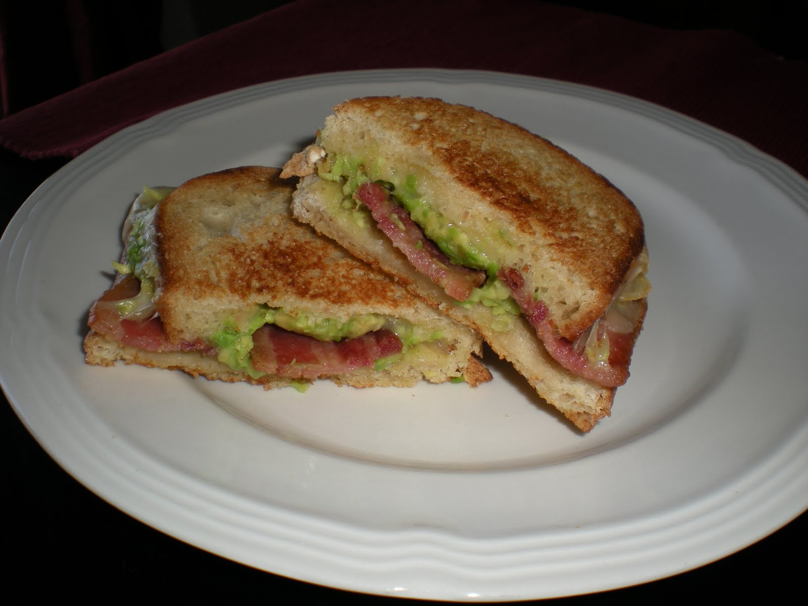 ... !: Grilled Cheese Sandwich with Bacon & Avocado & Pepper Jack Cheese
