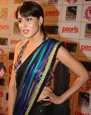 Actress_Genelia_in_Saree Wallpaper