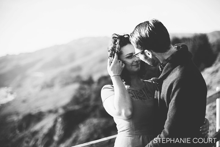 engagement photos at muir beach overlook