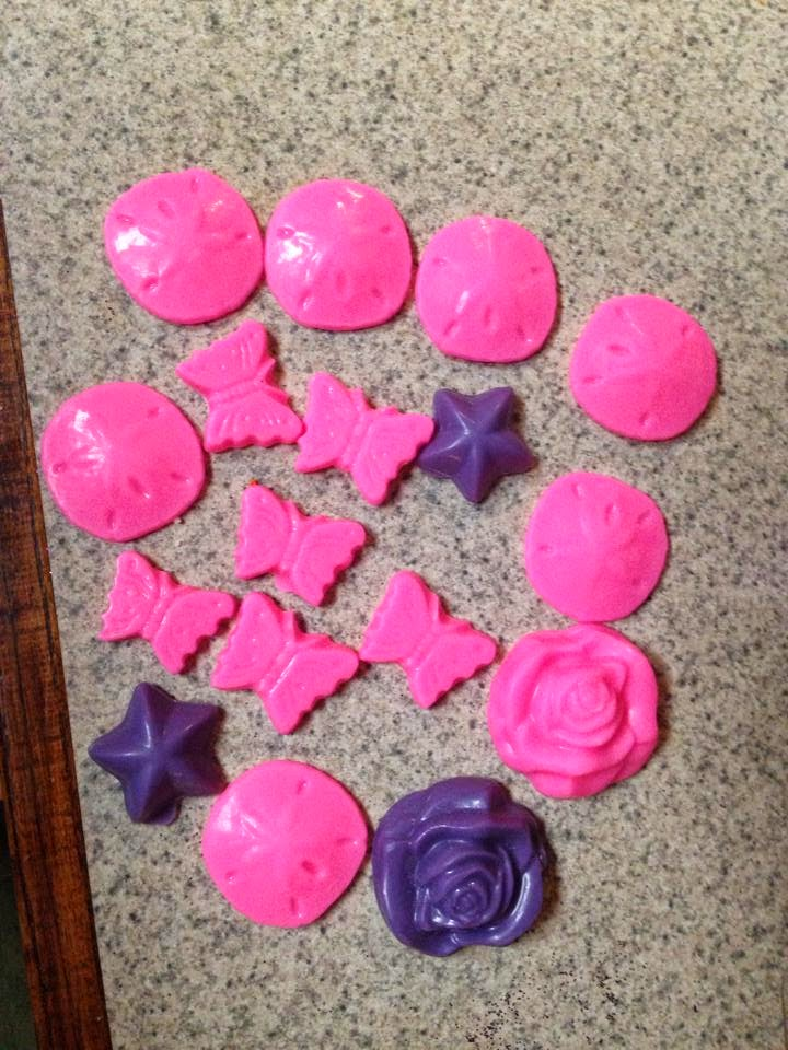 fun shaped wax tarts