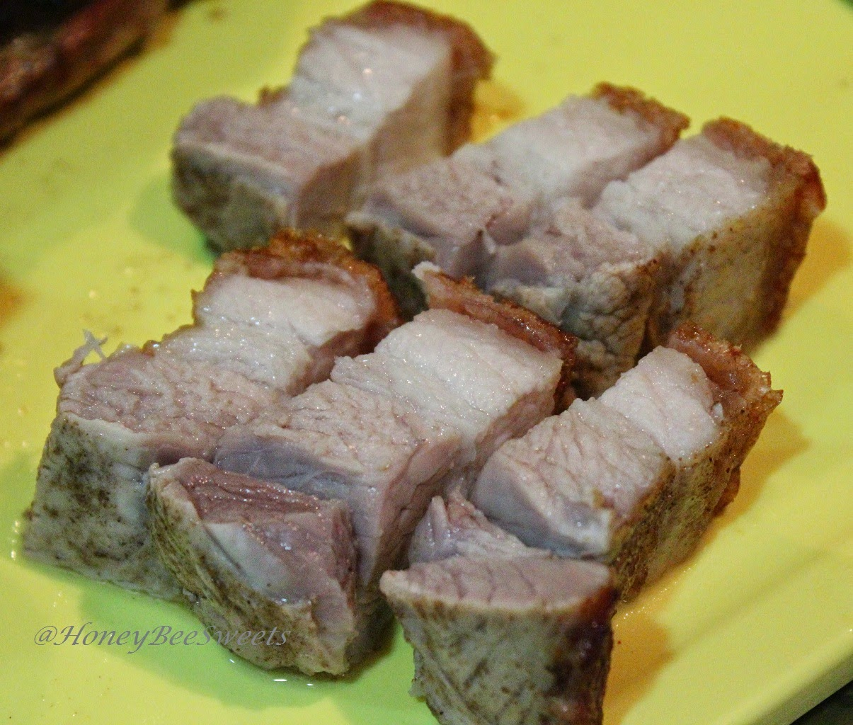 how to cook roast pork belly slices