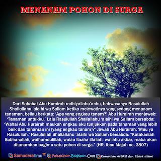 Menanam Pohon di Surga