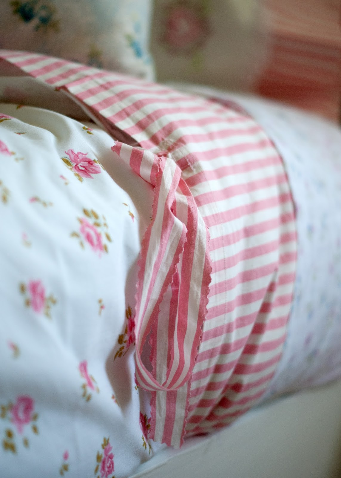 Custom made duvet from vintage linens