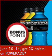 Powerade double MCR points coming up!