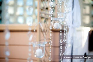 wedding hanging votives by cactus flower