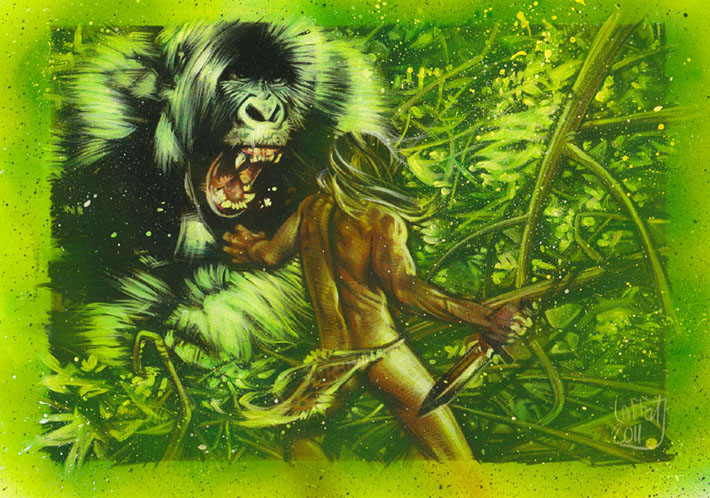 Tarzan, ACEO Sketch Card by Jeff Lafferty