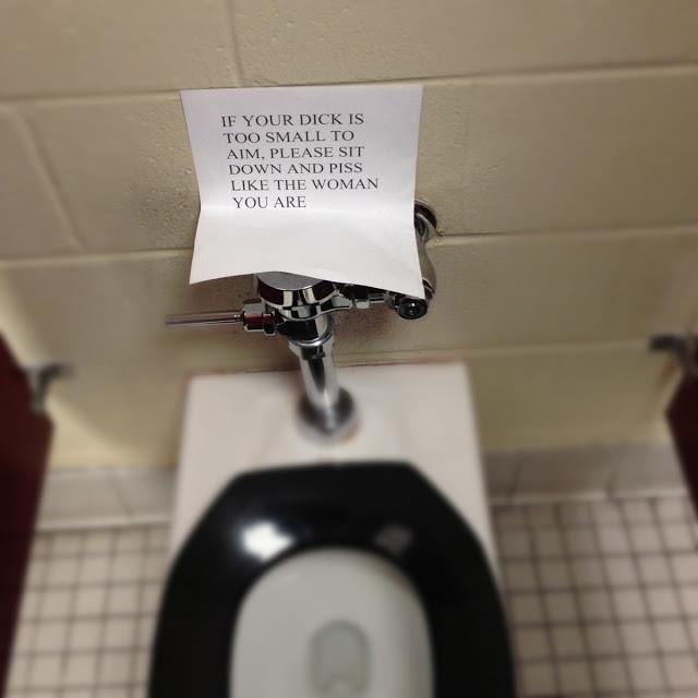 A Helpful Sign on Bathroom