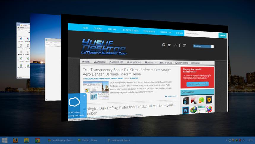 Aero WinFlip 3D - Aplikasi Untuk Melakukan 3D Flip Pada Windows