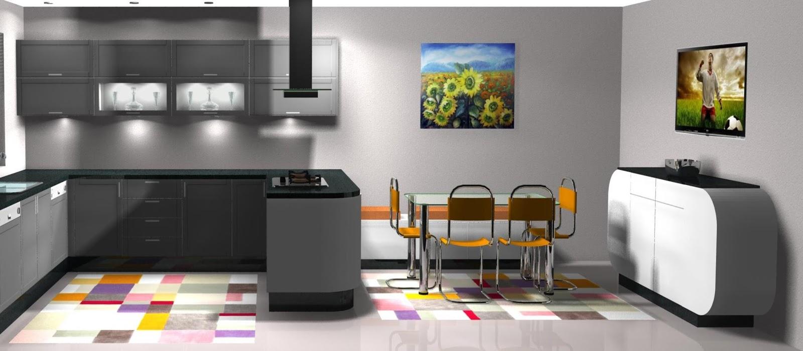 Dise o muebles de cocina dise o de cocina lacada en for Muebles blancos y grises
