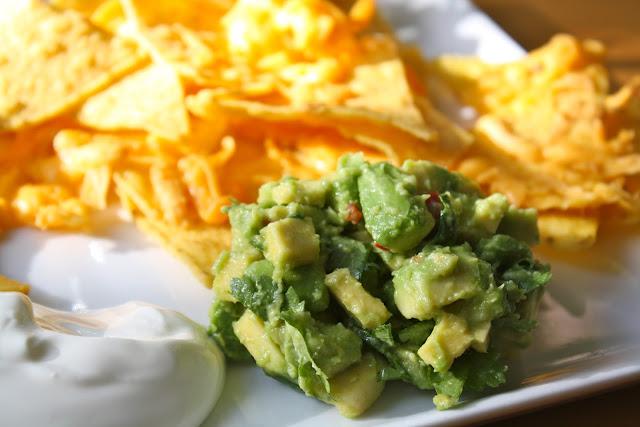 guacamole, rustik guacamole, grov guacamole, nachos
