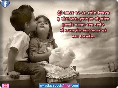 Postales para facebook con frases de niños Imagenes  - Imagenes De Amor De Niños Con Frases