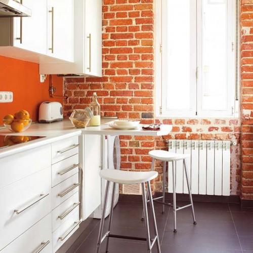 Дизайн интерьера маленькой кухни