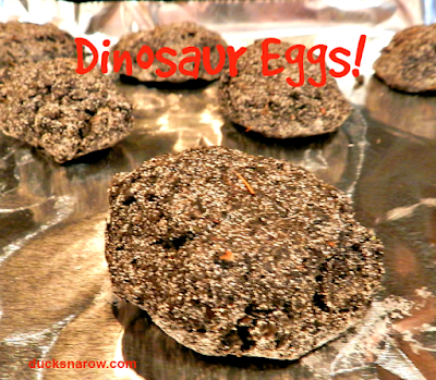 how to make dinosaur eggs - preschool
