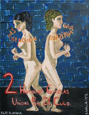 2 hermanas gemelas unidas por el culo, Agustí Garcia Monfort, Bad Painting, Pinturas,