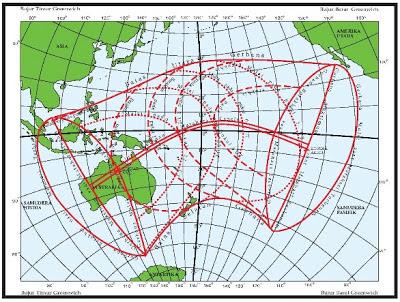 Peta Gerhana Matahari Cincin (GMC) 9-10 Mei 2013