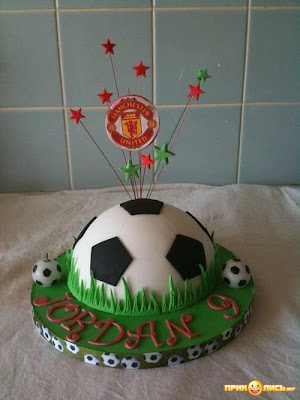 Funny Football Cake