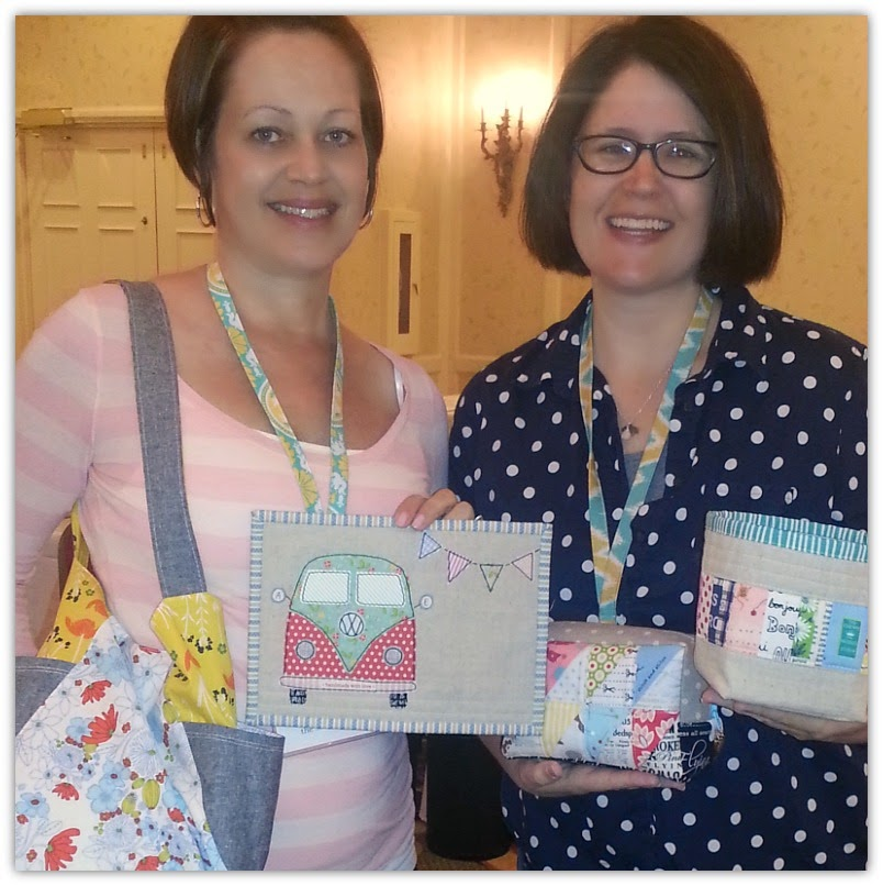 the sewing chick and Amy Edwards Sew South 2014 Secret Sister Swap