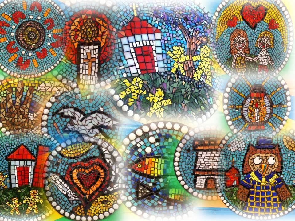 Laticrete australia conversations ozmosaics mosaic mural for Mural mosaic