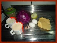 Ingredientes do recheio do quiche