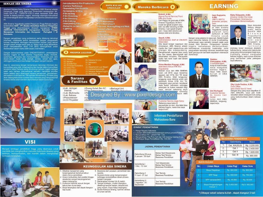 Contoh Brosur Pendidikan Pendaftaran Kampus Universitas