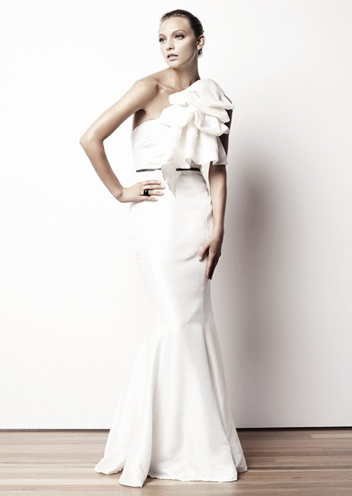 2015 Wedding Dresses and Trends: One shoulder wedding dresses