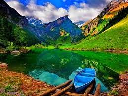 nature across hills