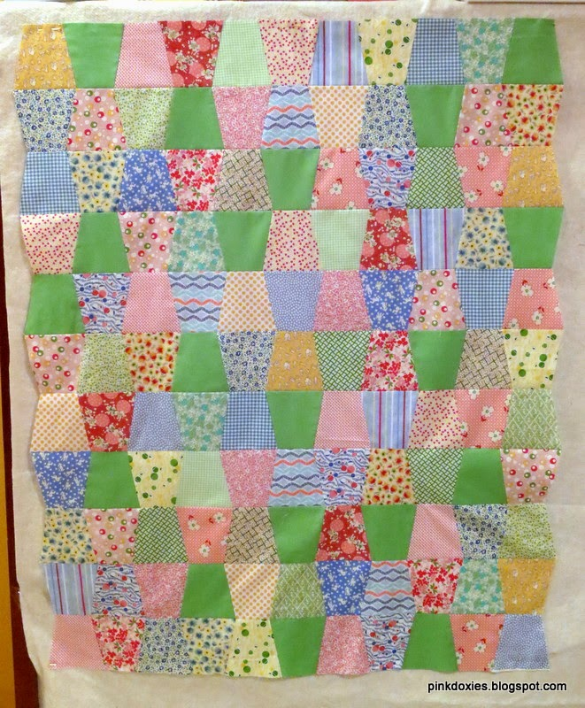 Pink Doxies: Unisex Baby Quilt