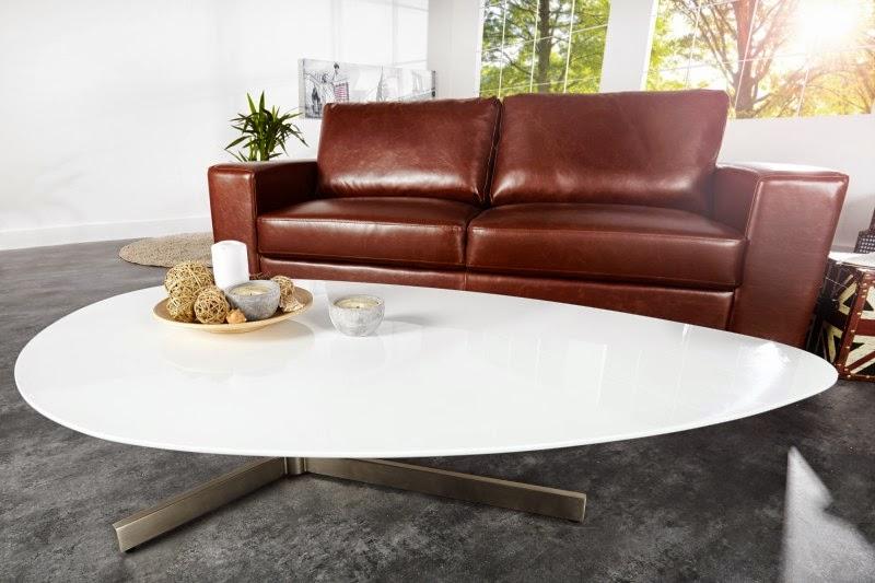 moderny stolik do obyvacky v bielej lesklej farbe