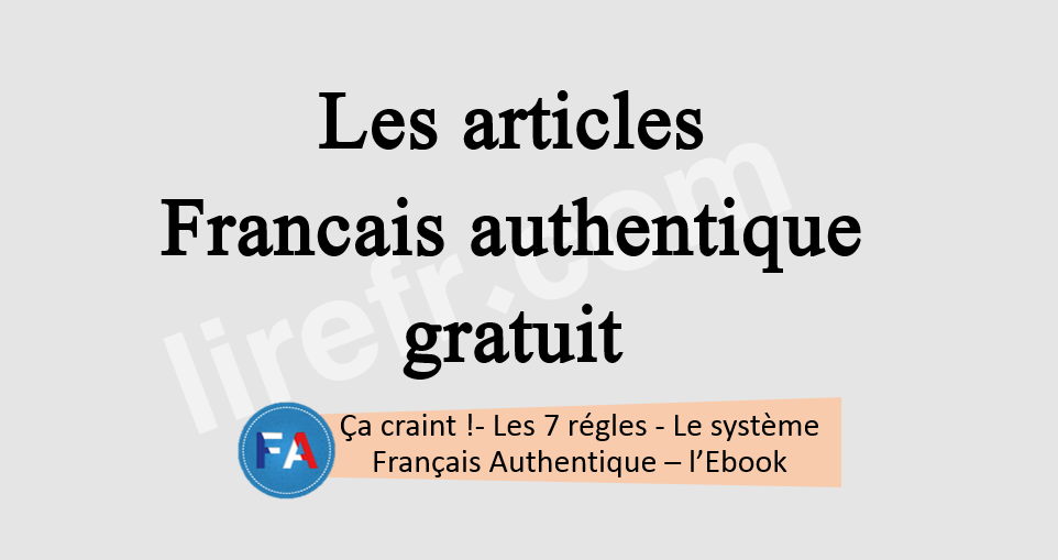Francais Authentique gratuit