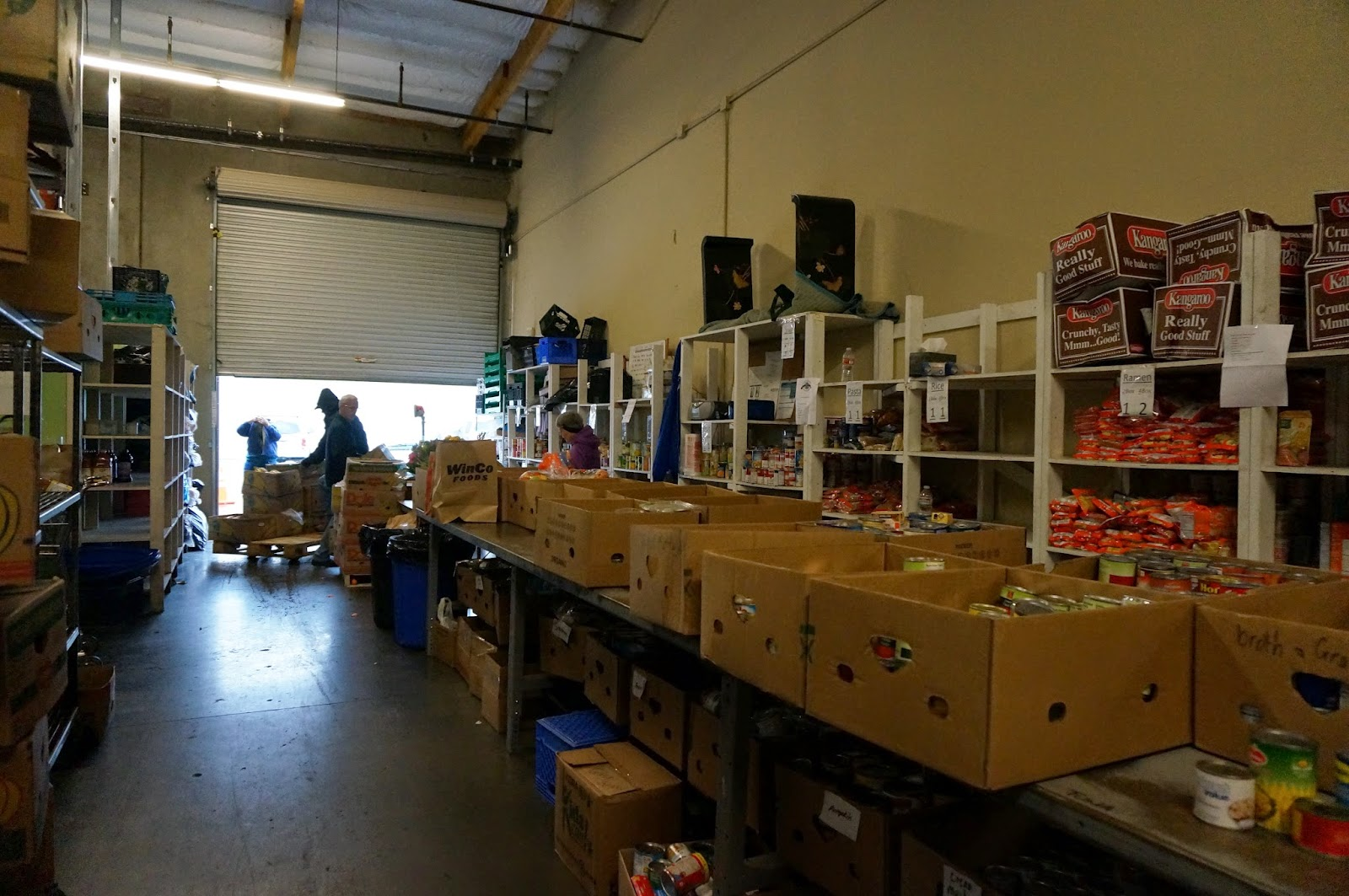Sorting Table at the Elk Grove Food Bank graphic