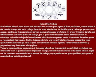 Horoscopo para el Trabajo Aries 2016