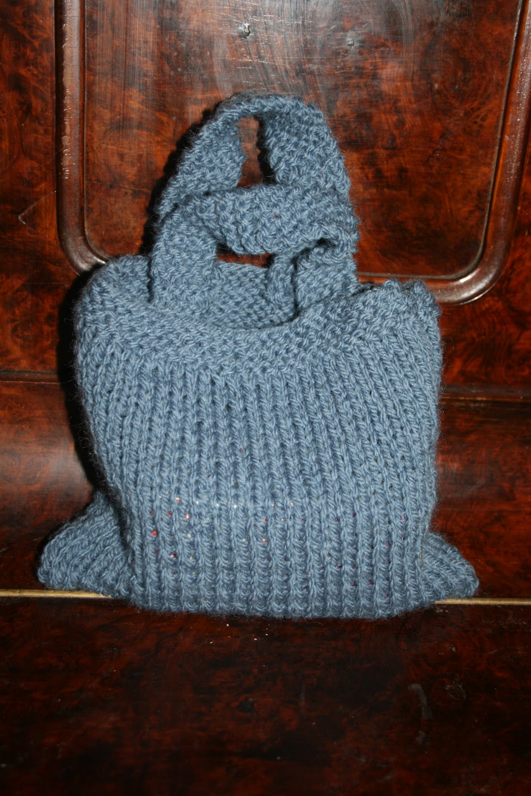 Baby Cable Striped Purse | Dana Must Knit