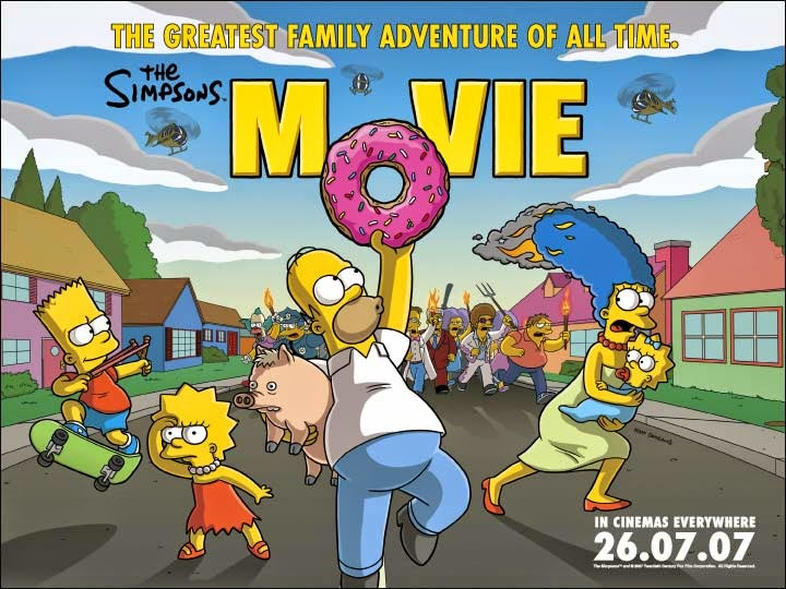original poster The Simpsons Movie 2007 animatedfilmreviews.filminspector.com