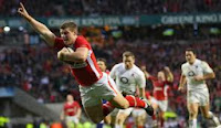 Scott Williams, England, try, Wales, Twickenham, Scarlets