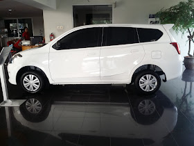 Tampilan Eksterior sisi samping Datsun GO+ Panca T Option
