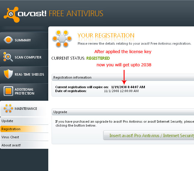 After getting key from us, Now its time to install it into Avast.