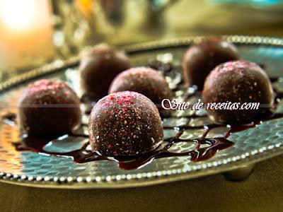 Trufas de chocolate com pimenta