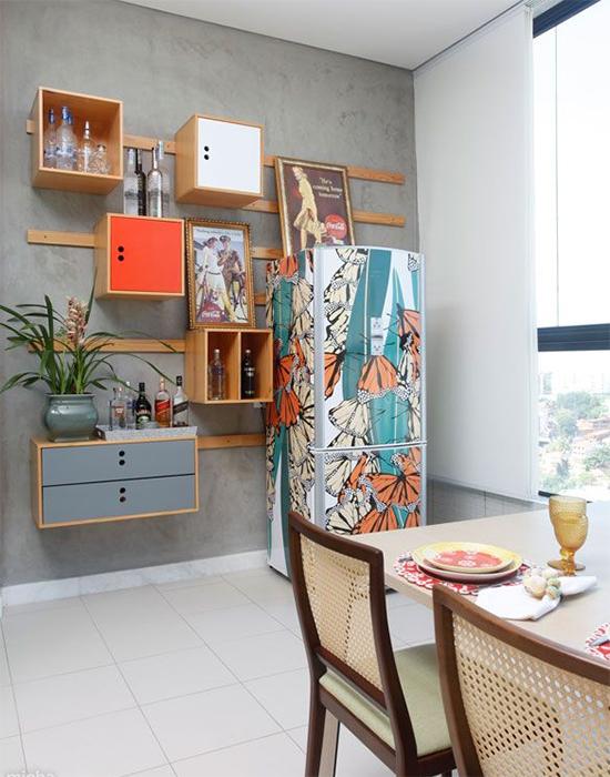 geladeira colorida, refrigerator vynil, vinil de geladeira, geladeira colorida