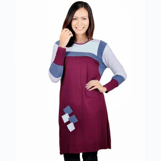 baju blus wanita spandex merah