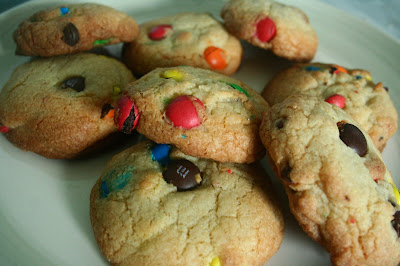 cookies, baking, m and ms