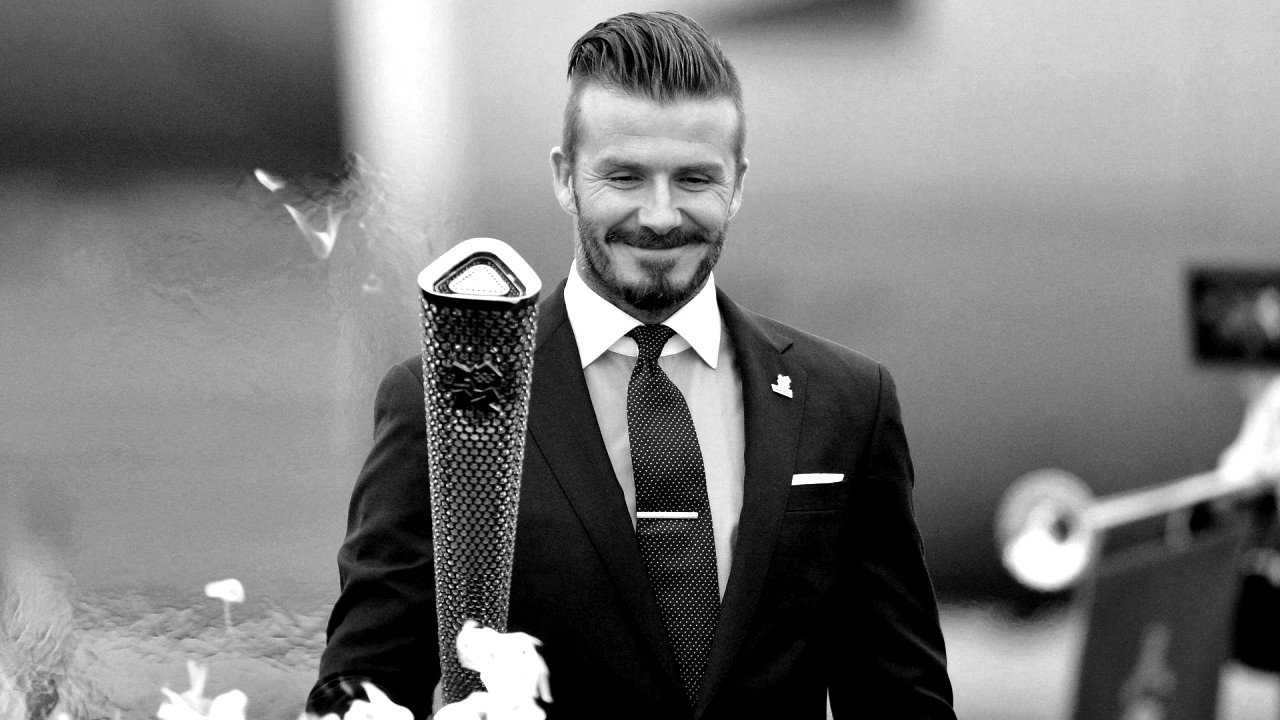 David Beckham black and white Photography