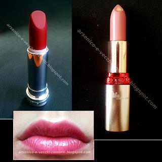 Lancôme Rouge in Love 185N L'Oréal Color Riche Serum S106 Glam Shine Juice 160 Cherry Juice