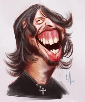 """Dave Grohl"" por Miller Almeida"