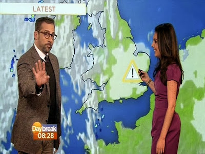 funny Steve Carell Ron Burgundy hot weathergirl Laura Tobin